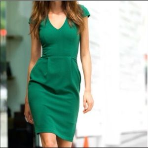H&M Emerald green sheath dress